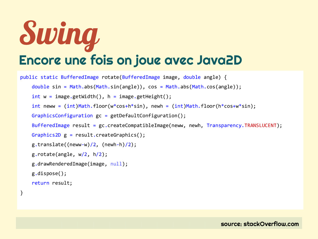 Swing Encore une fois on joue avec Java2D sourc...