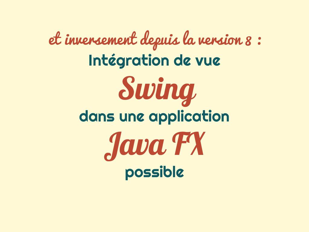 Intégration de vue Swing dans une application J...