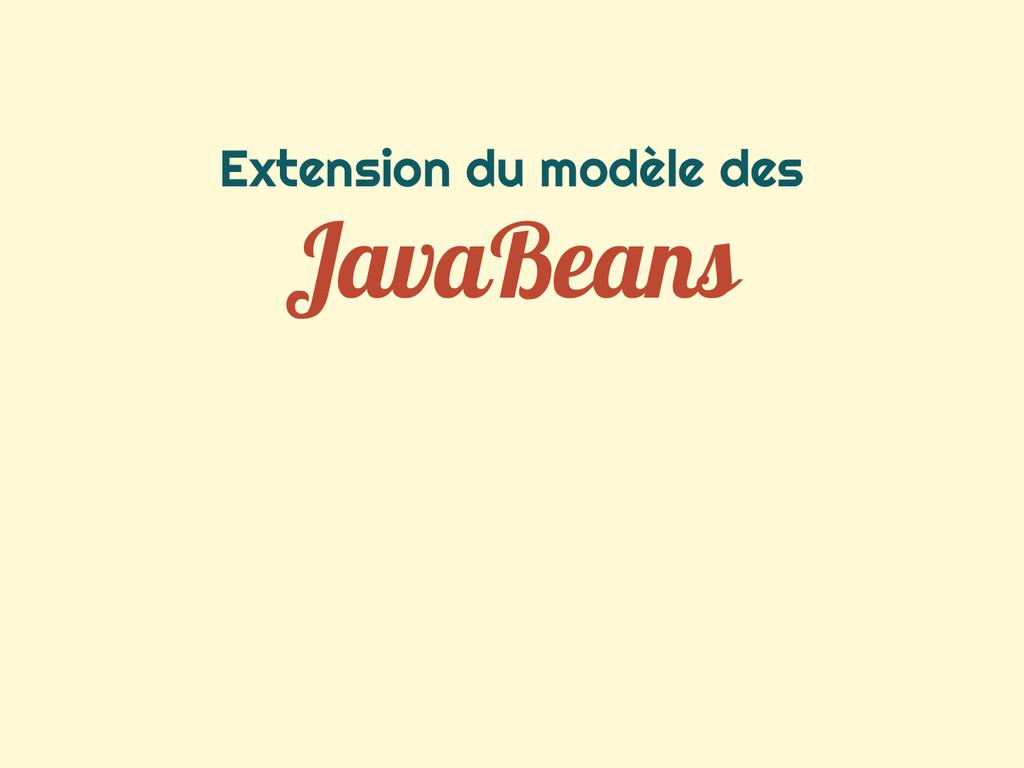 Extension du modèle des JavaBeans