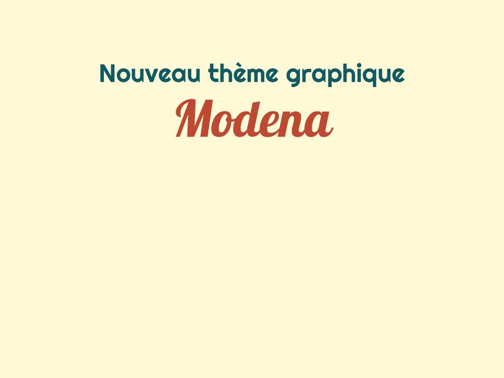 Nouveau thème graphique Modena