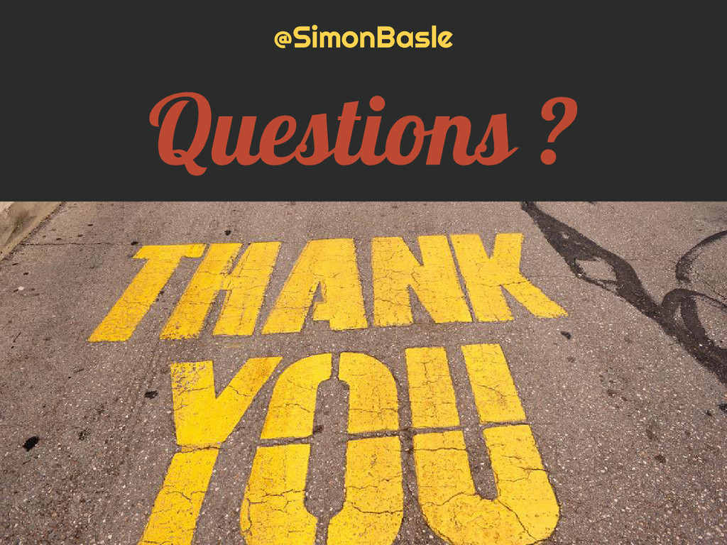 @SimonBasle Questions ?