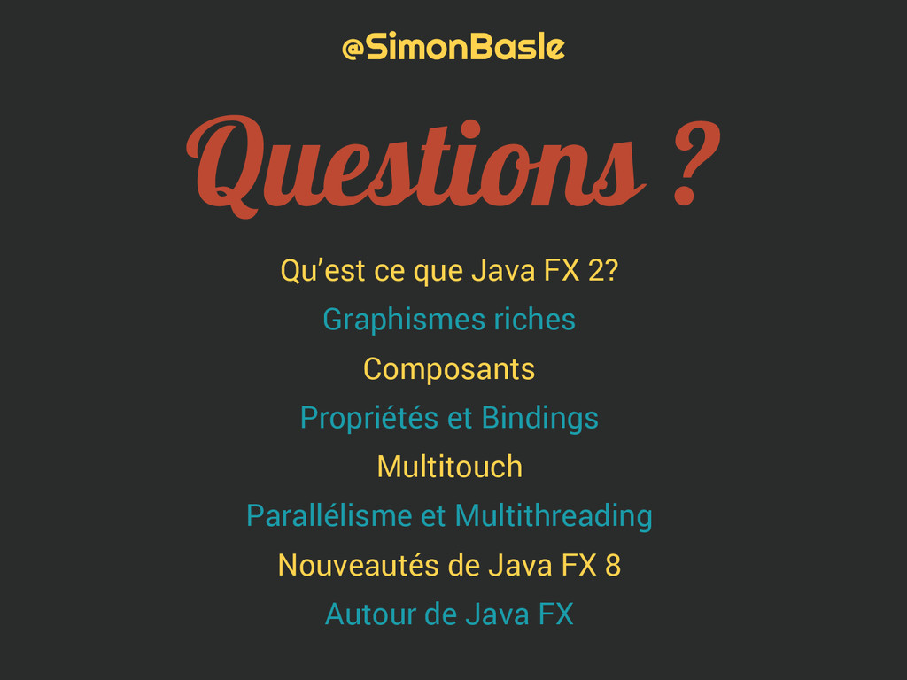 Qu'est ce que Java FX 2? Graphismes riches Comp...