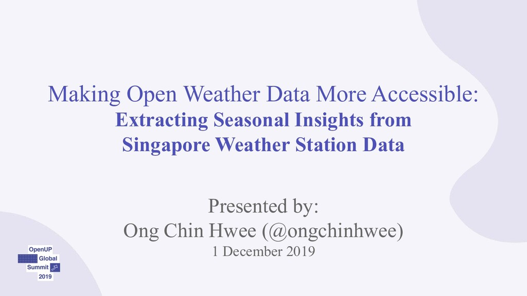 Making Open Weather Data More Accessible: Extra...
