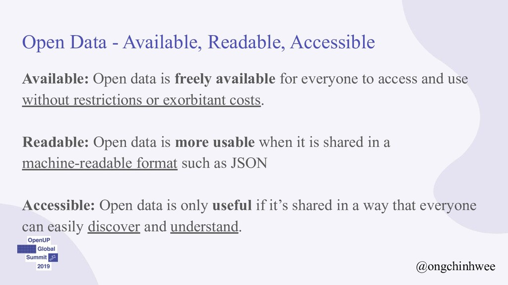 Open Data - Available, Readable, Accessible Ava...
