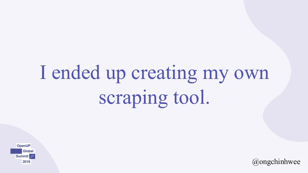 I ended up creating my own scraping tool. @ongc...