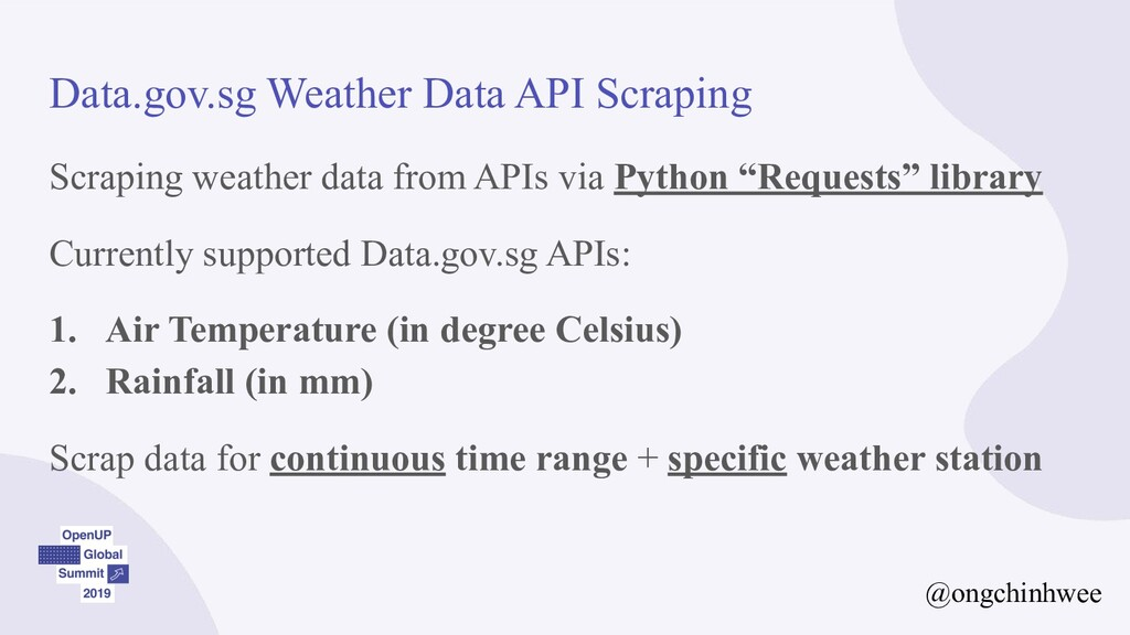 Data.gov.sg Weather Data API Scraping Scraping ...