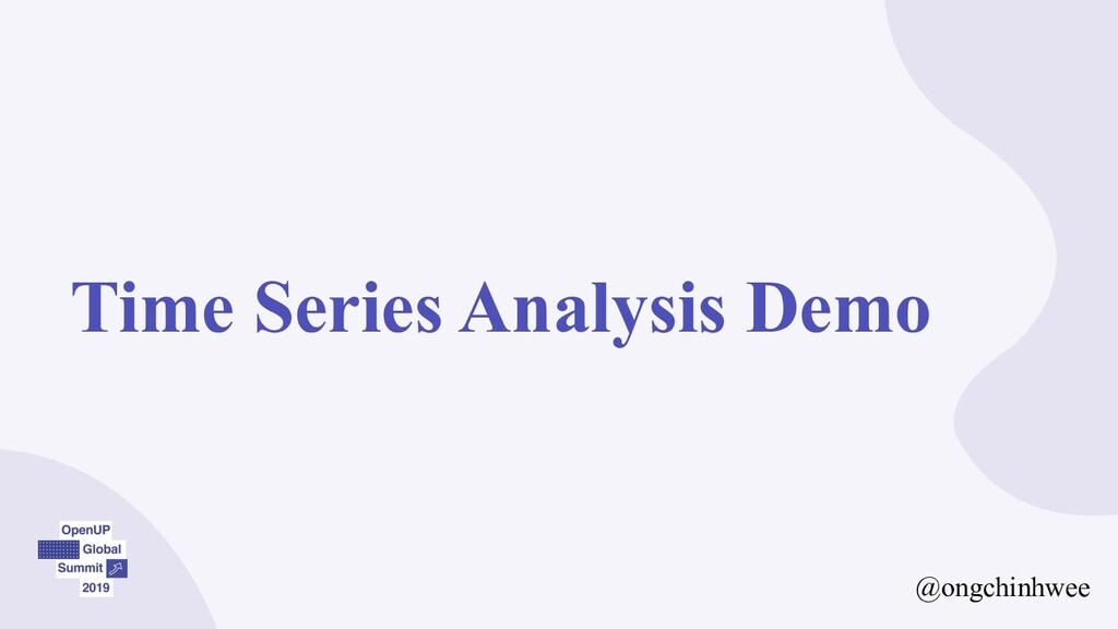 Time Series Analysis Demo @ongchinhwee