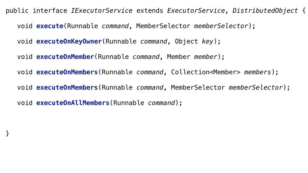 public interface IExecutorService extends Execu...
