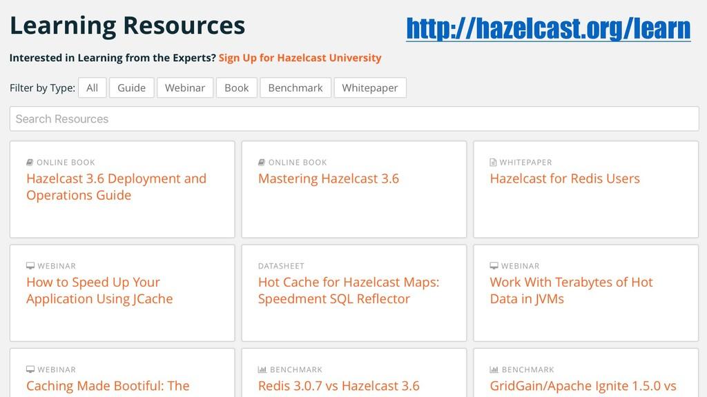 http://hazelcast.org/learn