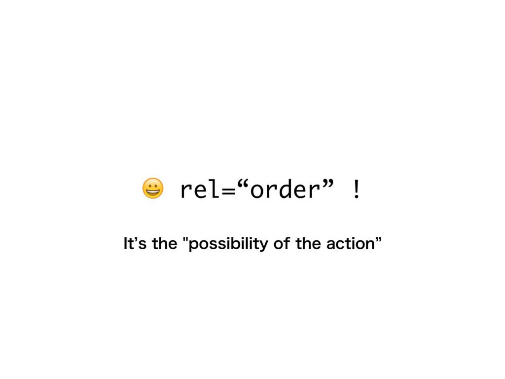 "rel=""order"" ! *U`TUIFQPTTJCJMJUZPGUIFBDU..."