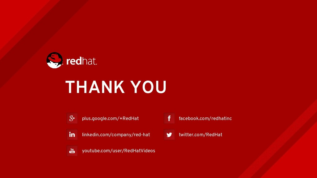 THANK YOU plus.google.com/+RedHat linkedin.com/...