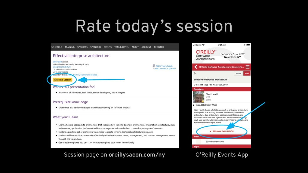 Rate today 's session Session page on oreillysa...