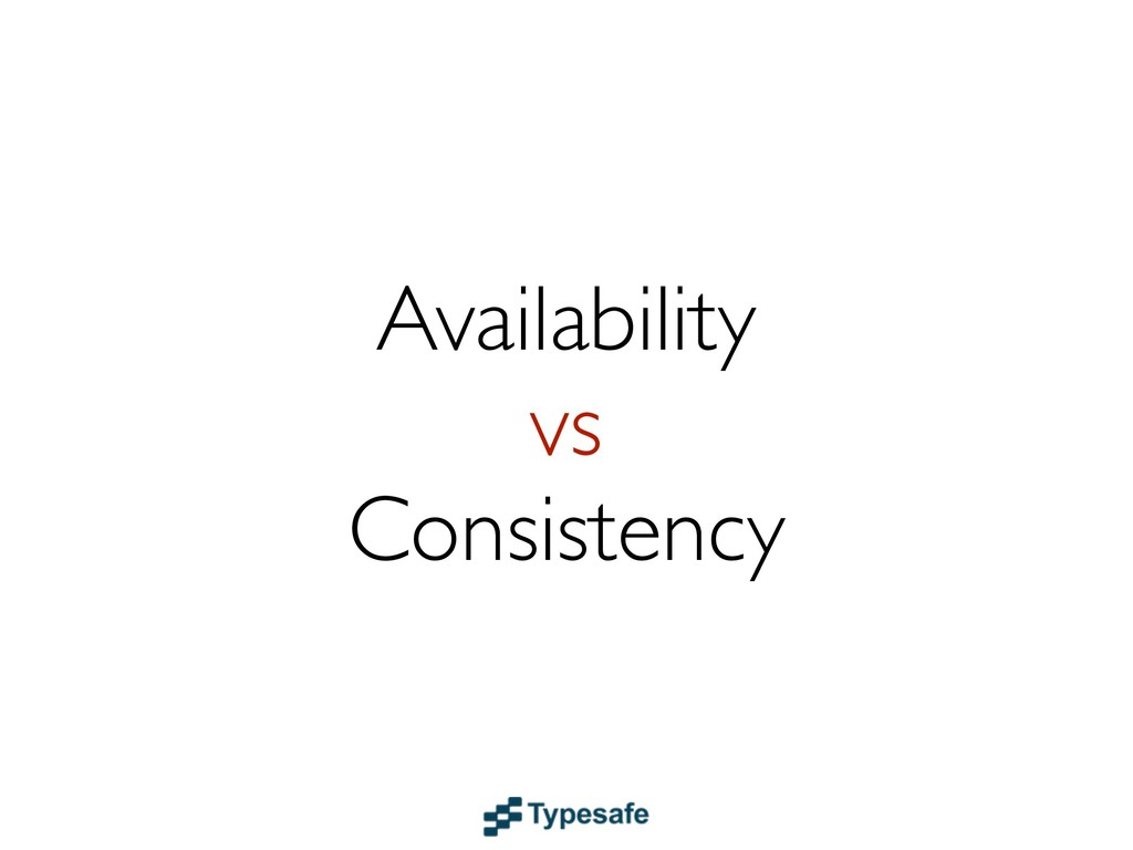 Availability vs Consistency
