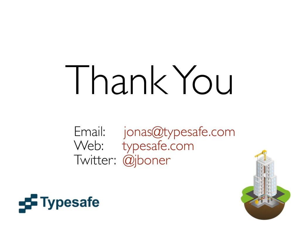 Thank You Email: jonas@typesafe.com Web: typesa...