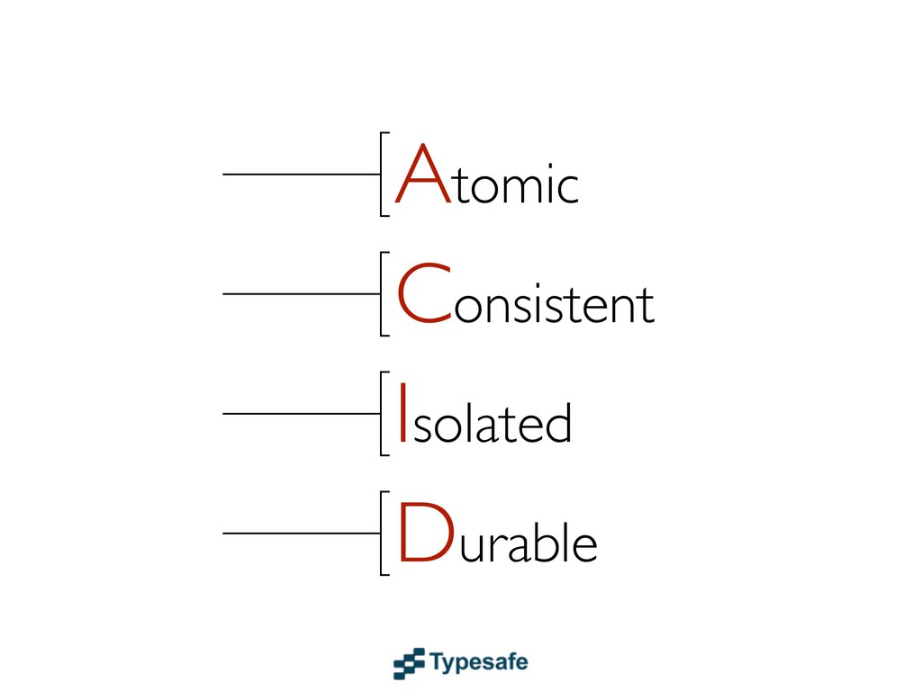 Atomic Consistent Isolated Durable