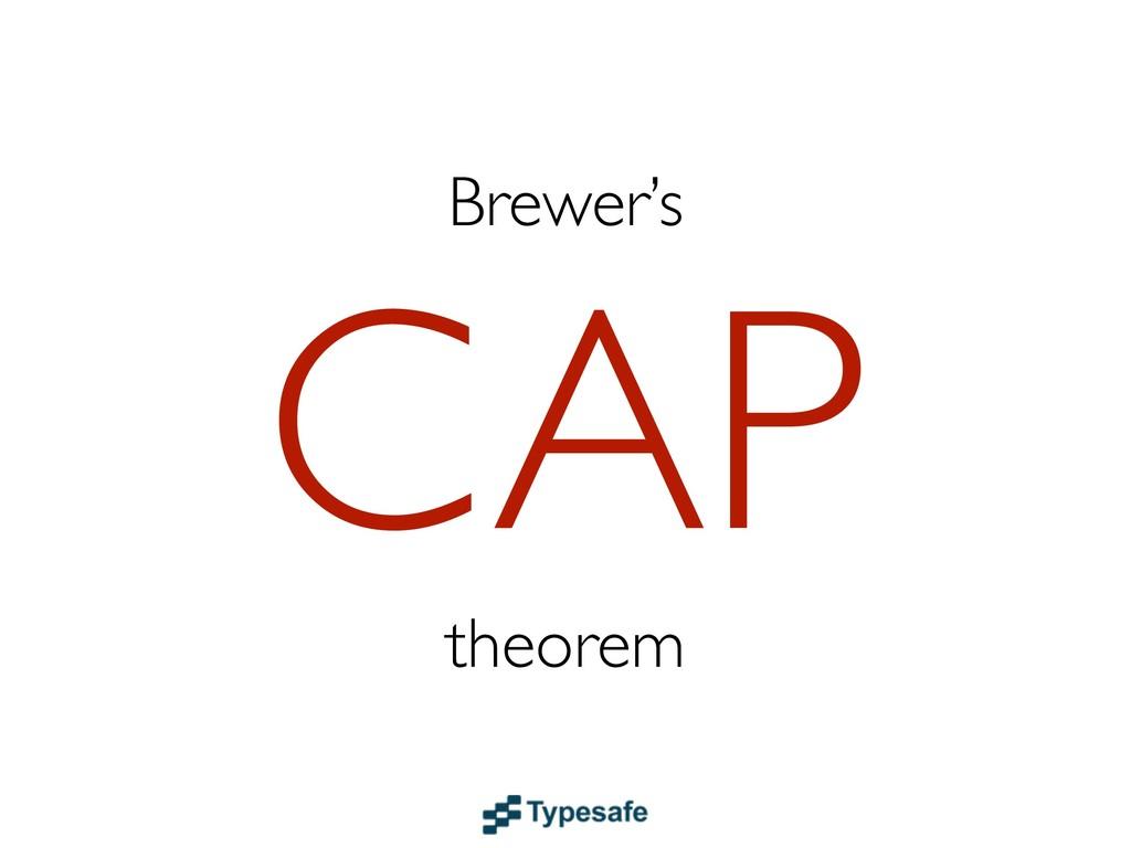 Brewer's CAP theorem