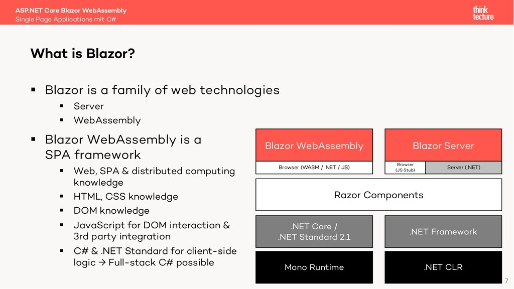 7 § Blazor is a family of web technologies § Se...