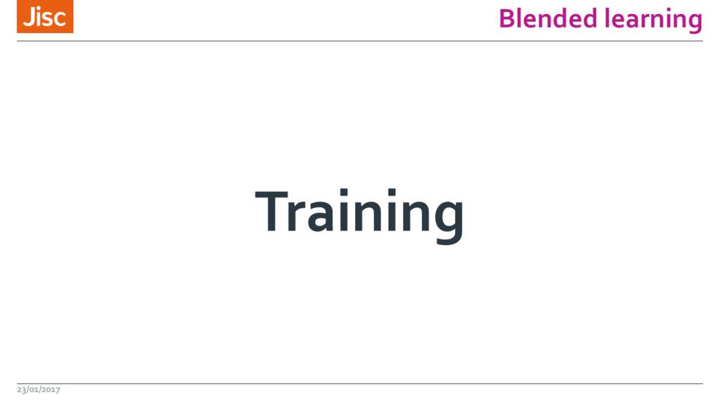 Blended learning Training 23/01/2017