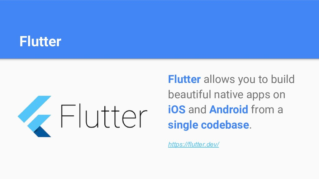 Flutter Flutter allows you to build beautiful n...