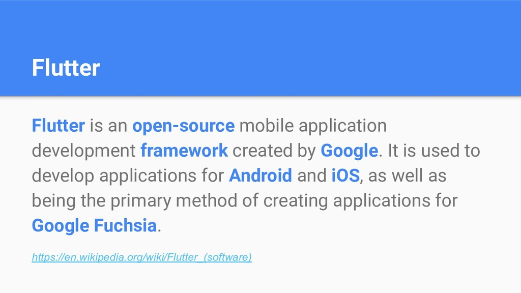 Flutter Flutter is an open-source mobile applic...