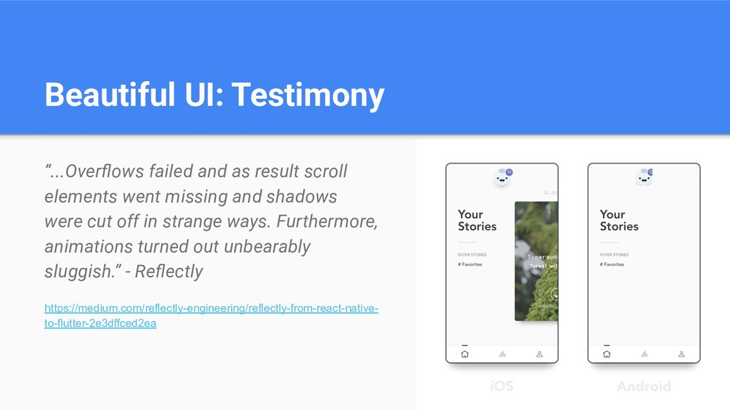 "Beautiful UI: Testimony ""...Overflows failed and..."