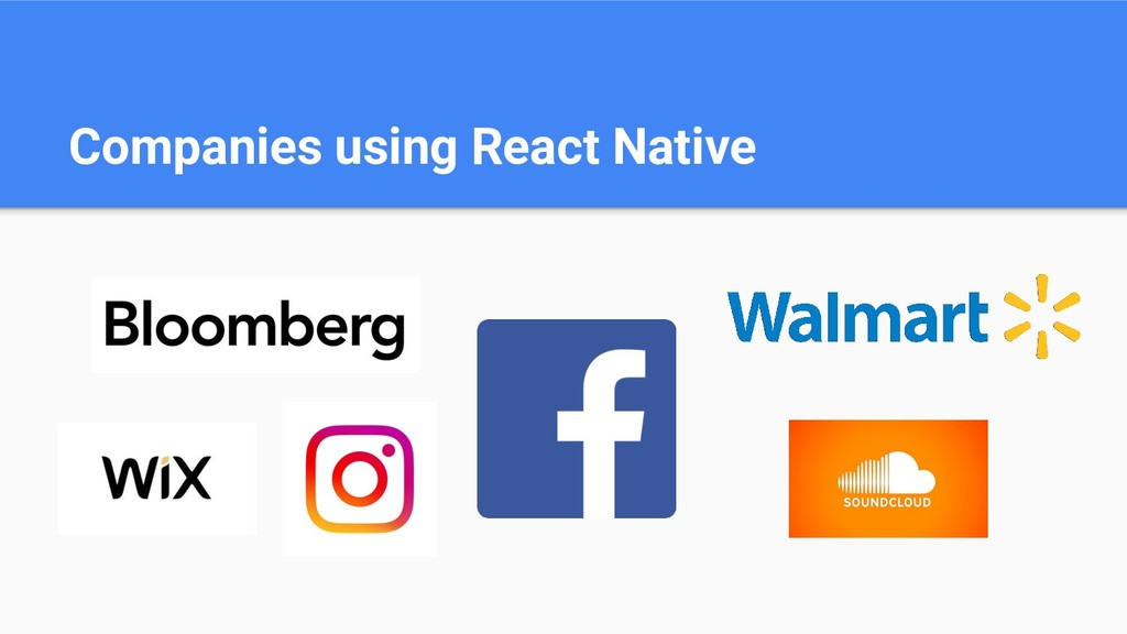 Companies using React Native