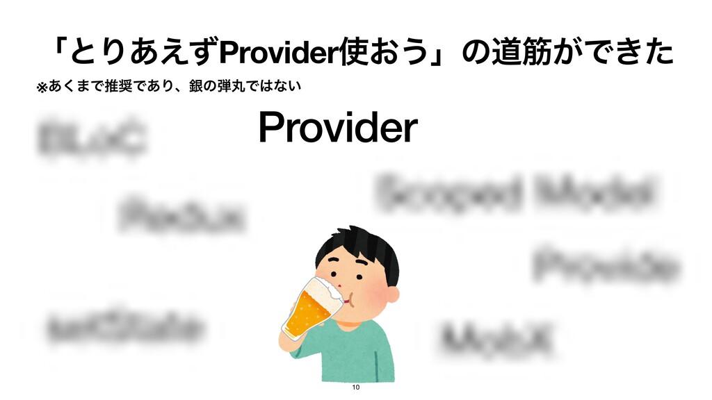 Provider ʮͱΓ͋͑ͣProvider͓͏ʯͷಓے͕Ͱ͖ͨ ※͋͘·ͰਪͰ͋Γɺۜ...