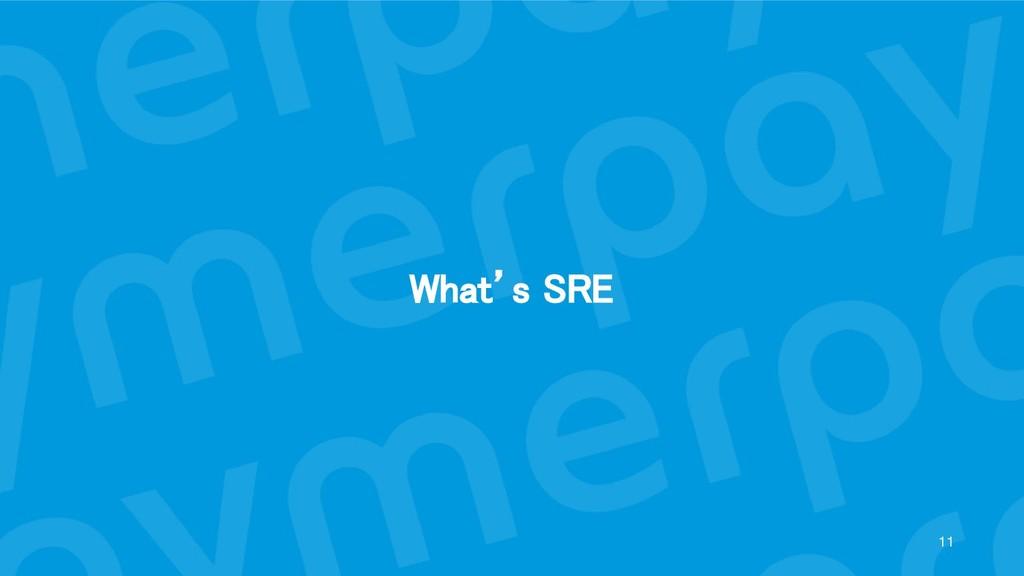 What's SRE 11