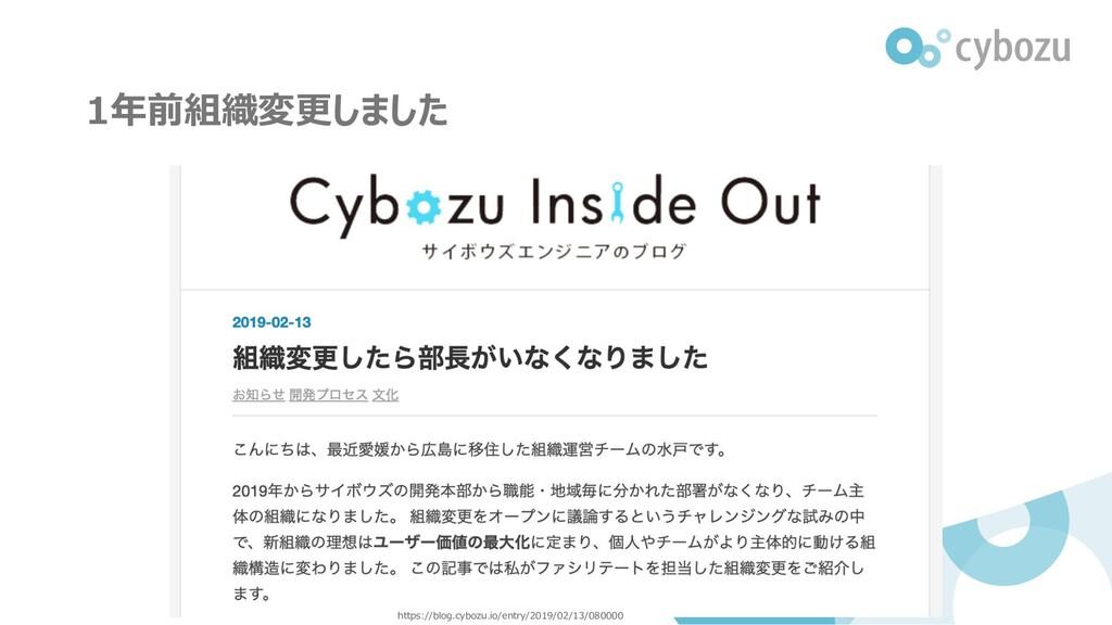 1年前組織変更しました https://blog.cybozu.io/entry/2019/0...
