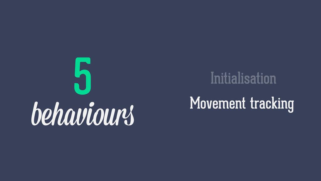 Movement tracking Initialisation 5 behaviours