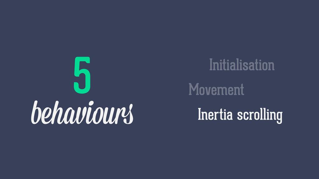 Inertia scrolling Movement Initialisation 5 beh...