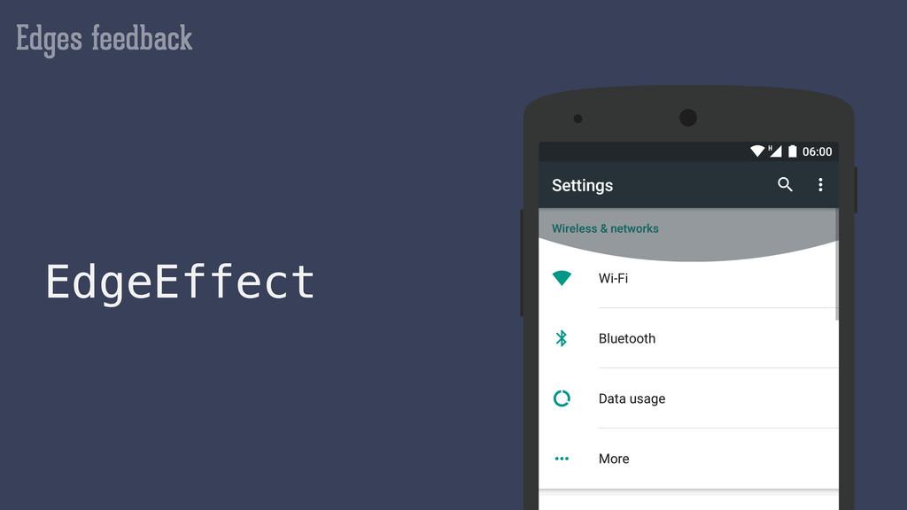Edges feedback EdgeEffect