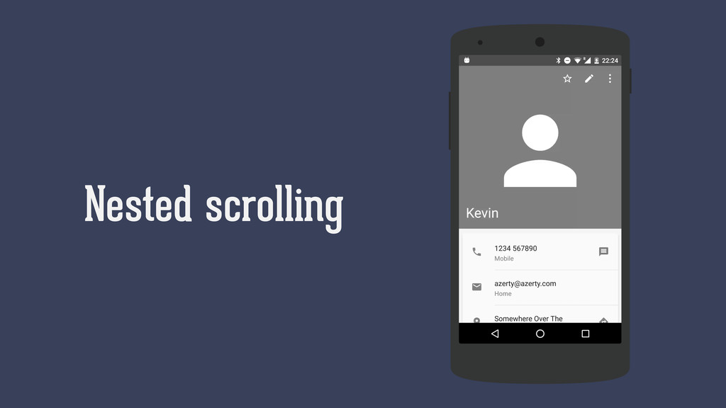 Nested scrolling