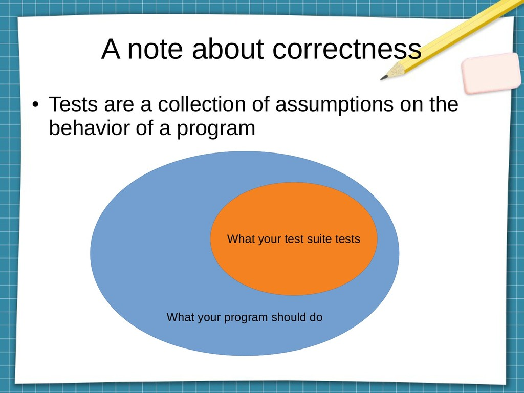 A note about correctness What your program shou...