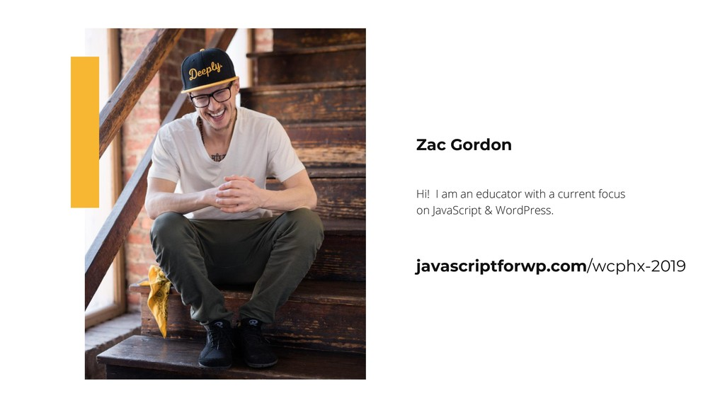 Zac Gordon Hi! I am an educator with a current ...