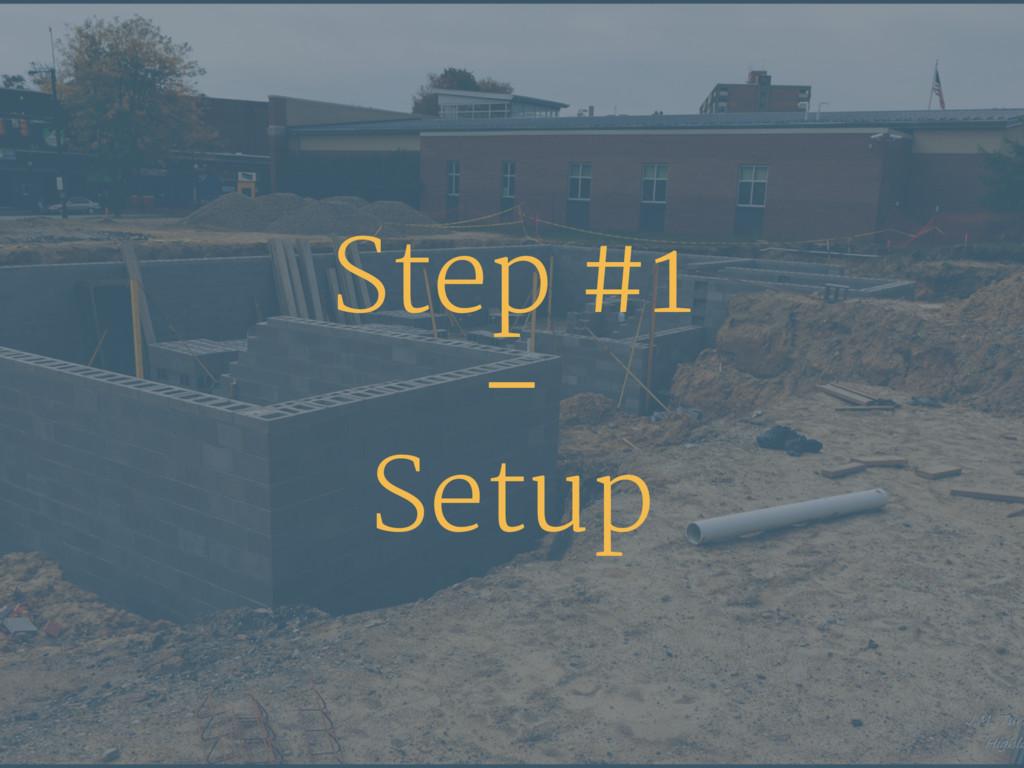 Step #1 – Setup