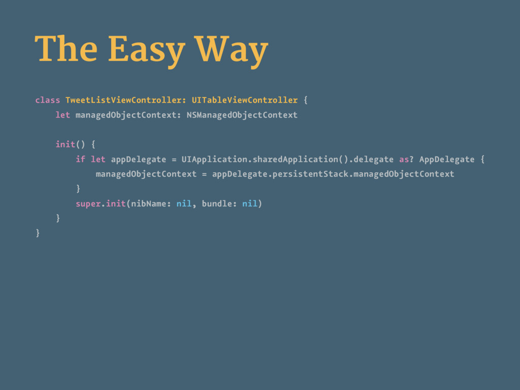 The Easy Way class TweetListViewController: UIT...