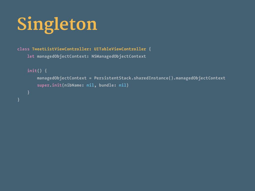 Singleton class TweetListViewController: UITabl...