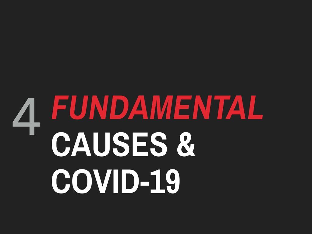 4 FUNDAMENTAL CAUSES & COVID-19