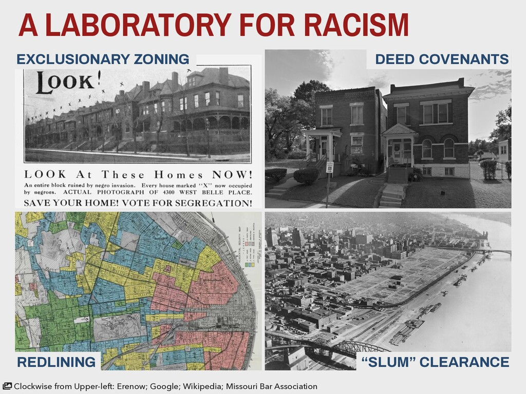 A LABORATORY FOR RACISM DEED COVENANTS EXCLUSIO...