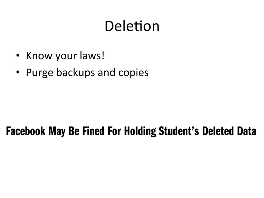 DeleCon  • Know your laws!  • Pur...