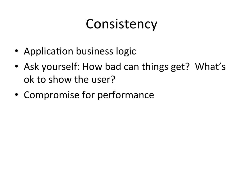Consistency  • ApplicaCon business lo...
