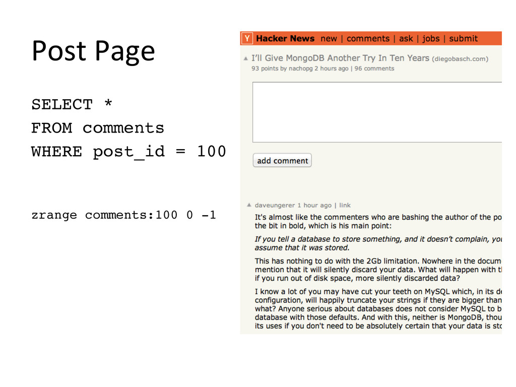 """Post Page  SELECT * """" FROM comments"""" WHER..."""