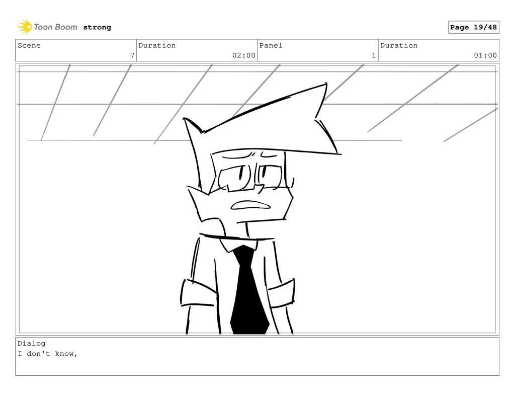 Scene 7 Duration 02:00 Panel 1 Duration 01:00 D...