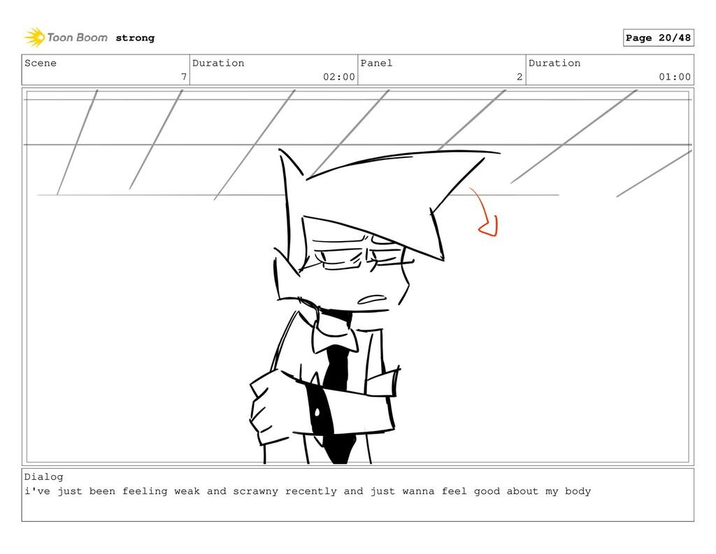 Scene 7 Duration 02:00 Panel 2 Duration 01:00 D...