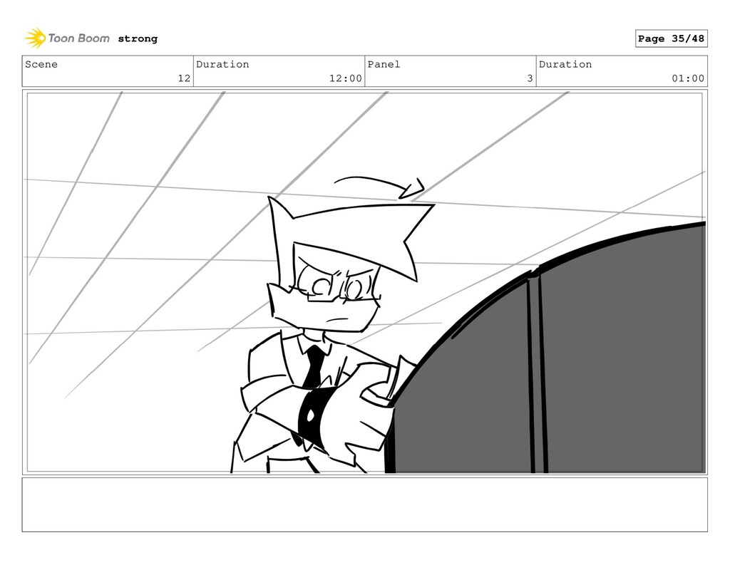 Scene 12 Duration 12:00 Panel 3 Duration 01:00 ...