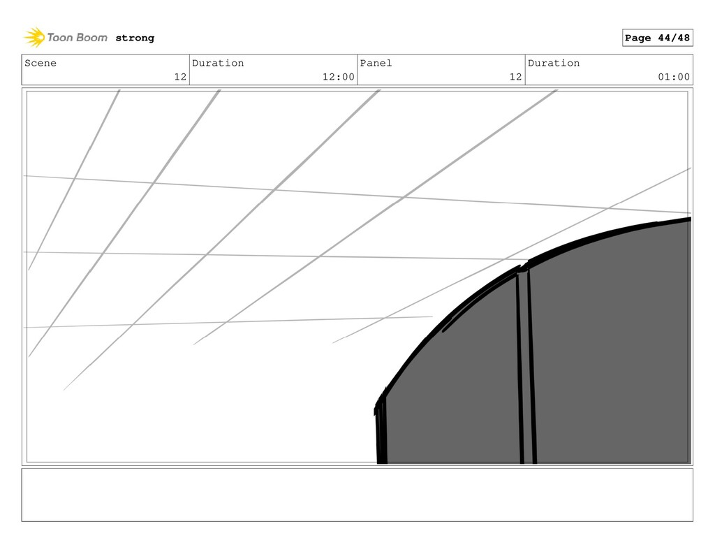 Scene 12 Duration 12:00 Panel 12 Duration 01:00...