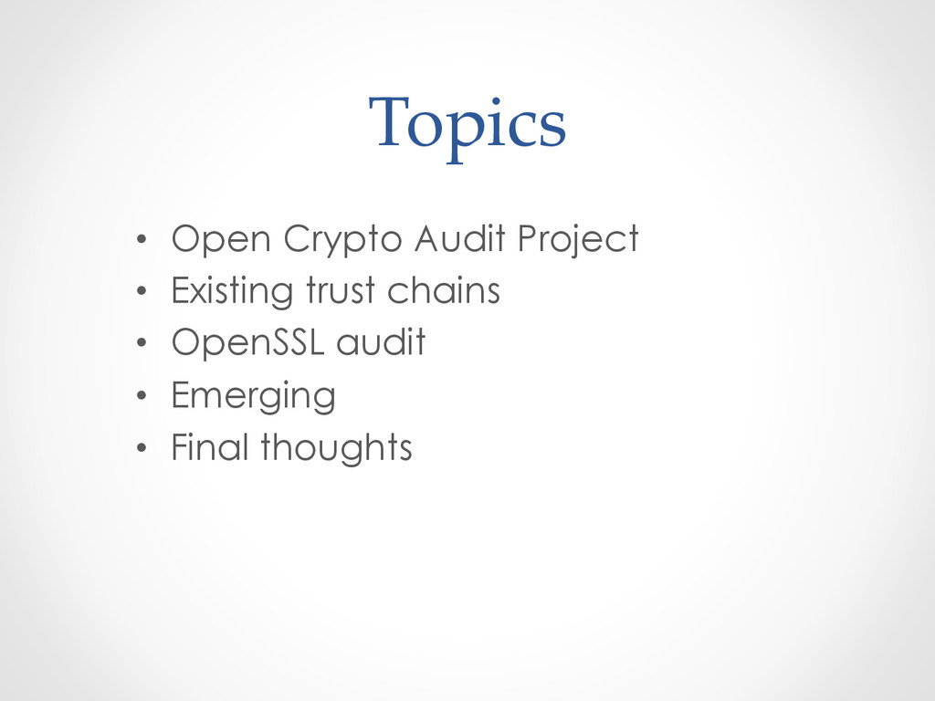 Topics • Open Crypto Audit Project • Existi...