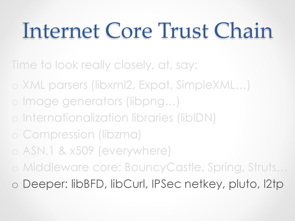 Internet  Core  Trust  Chain	