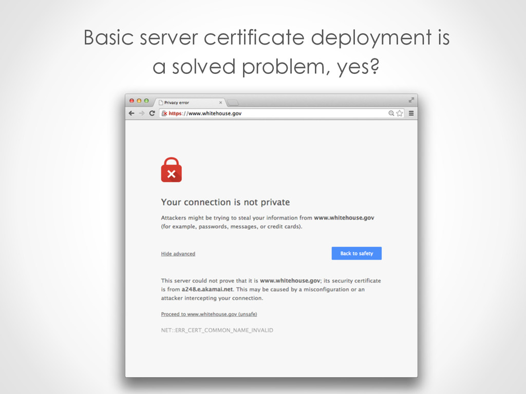 Basic server certificate deployment is a solved...